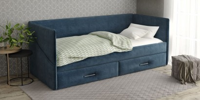 Детская угловая кровать SontelleАланд с ящиками